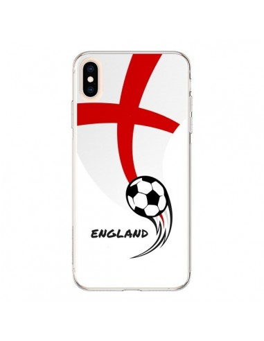 Coque iPhone XS Max Equipe Angleterre England Football - Madotta