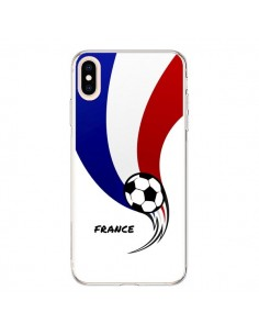 Coque iPhone XS Max Equipe France Ballon Football - Madotta