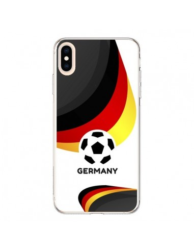 Coque iPhone XS Max Equipe Allemagne Football - Madotta