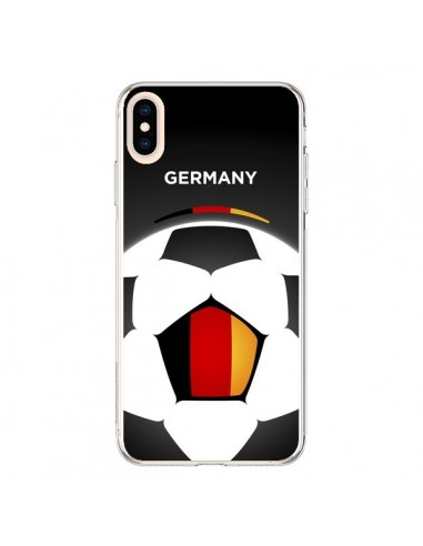 Coque iPhone XS Max Allemagne Ballon Football - Madotta