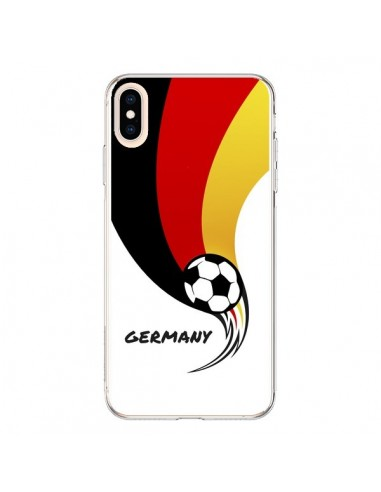 Coque iPhone XS Max Equipe Allemagne Germany Football - Madotta