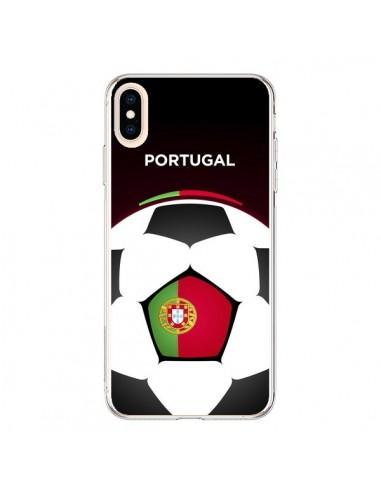 Coque iPhone XS Max Portugal Ballon Football - Madotta