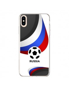 Coque iPhone XS Max Equipe Russie Football - Madotta