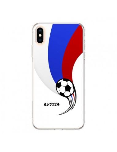 Coque iPhone XS Max Equipe Russie Russia Football - Madotta