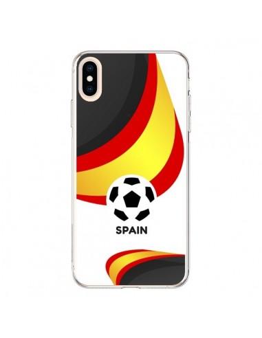 Coque iPhone XS Max Equipe Espagne Football - Madotta