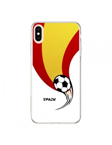 Coque iPhone XS Max Equipe Espagne Spain Football - Madotta