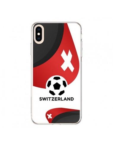 Coque iPhone XS Max Equipe Suisse Football - Madotta