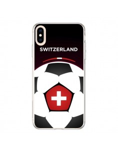Coque iPhone XS Max Suisse Ballon Football - Madotta