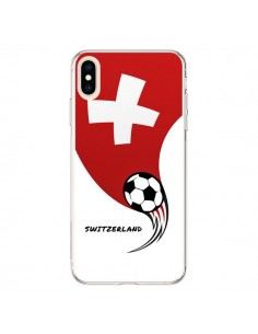Coque iPhone XS Max Equipe Suisse Switzerland Football - Madotta