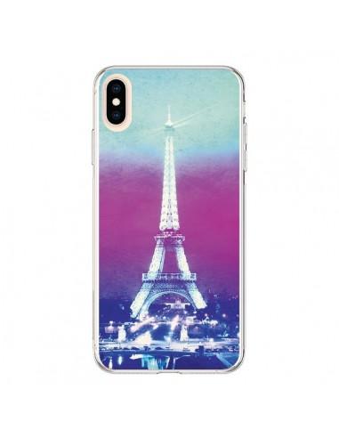 Coque iPhone XS Max Tour Eiffel Night - Mary Nesrala