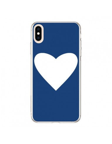 Coque iPhone XS Max Coeur Navy Blue Heart - Mary Nesrala