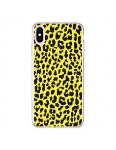 Coque iPhone XS Max Leopard Jaune - Mary Nesrala