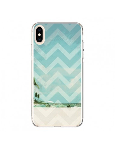 Coque iPhone XS Max Chevron Beach Dreams Triangle Azteque - Mary Nesrala