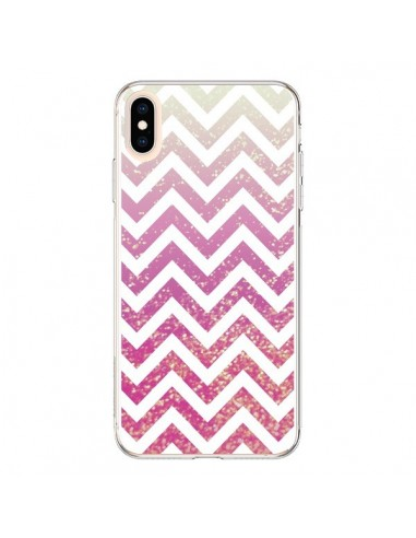 Coque iPhone XS Max Chevron Pixie Dust Triangle Azteque - Mary Nesrala