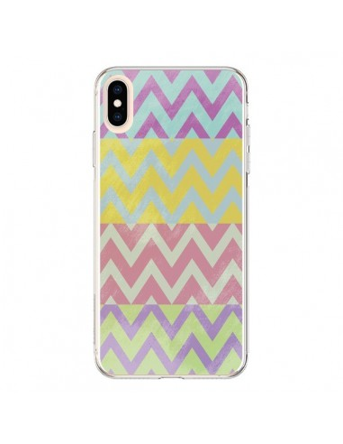 Coque iPhone XS Max Chevron Summer Triangle Azteque - Mary Nesrala