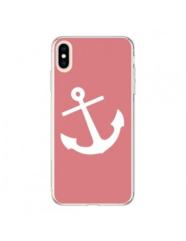 Coque iPhone XS Max Ancre Corail - Mary Nesrala