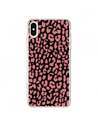 Coque iPhone XS Max Leopard Corail - Mary Nesrala
