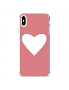Coque iPhone XS Max Coeur Corail - Mary Nesrala