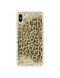 Coque iPhone XS Max Leopard Golden Or Doré - Mary Nesrala