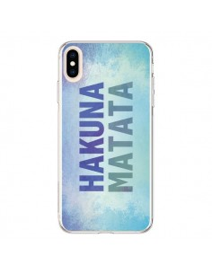 Coque iPhone XS Max Hakuna Matata Roi Lion Bleu - Mary Nesrala