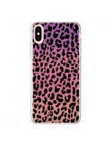 Coque iPhone XS Max Leopard Hot Rose Corail - Mary Nesrala