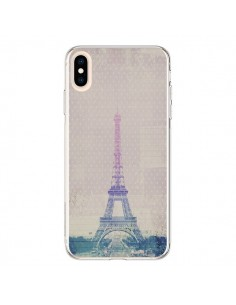 Coque iPhone XS Max I love Paris Tour Eiffel - Mary Nesrala