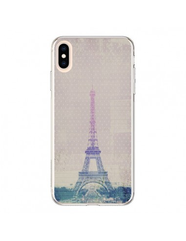 Coque iPhone XS Max I love Paris Tour Eiffel - Mary Nesrala