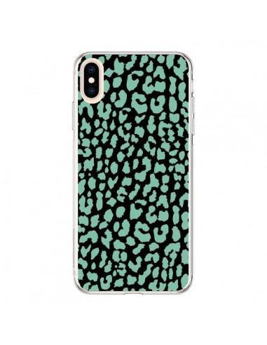 Coque iPhone XS Max Leopard Mint Vert - Mary Nesrala