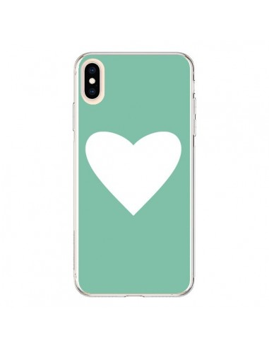 Coque iPhone XS Max Coeur Mint Vert - Mary Nesrala