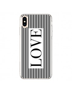 Coque iPhone XS Max Love Noir et Blanc - Mary Nesrala