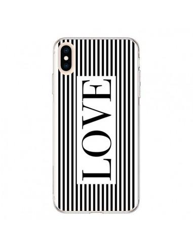 Coque iPhone XS Max Love Noir et Blanc - Mary Nesrala