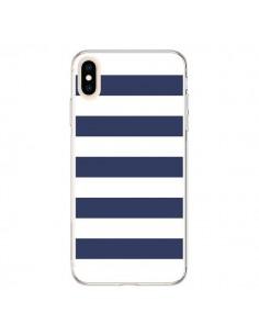 Coque iPhone XS Max Bandes Marinières Bleu Blanc Gaultier - Mary Nesrala