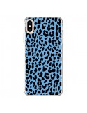 Coque iPhone XS Max Leopard Bleu Neon - Mary Nesrala