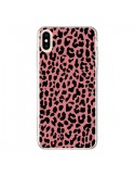 Coque iPhone XS Max Leopard Corail Neon - Mary Nesrala