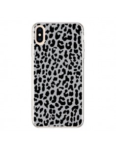 Coque iPhone XS Max Leopard Gris Neon - Mary Nesrala