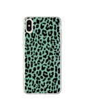 Coque iPhone XS Max Leopard Mint Vert Neon - Mary Nesrala