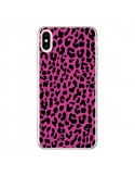 Coque iPhone XS Max Leopard Rose Pink Neon - Mary Nesrala
