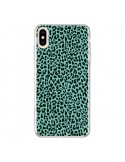 Coque iPhone XS Max Leopard Turquoise Neon - Mary Nesrala