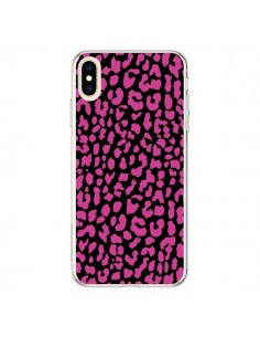 Coque iPhone XS Max Leopard Rose Pink - Mary Nesrala