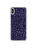 Coque iPhone XS Max Leopard Violet - Mary Nesrala