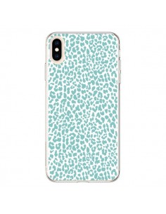 Coque iPhone XS Max Leopard Turquoise - Mary Nesrala