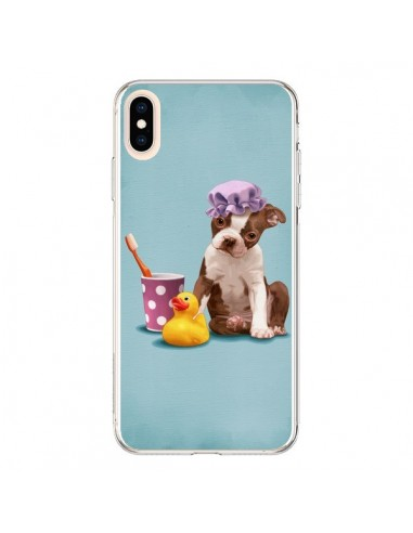 Coque iPhone XS Max Chien Dog Canard Fille - Maryline Cazenave