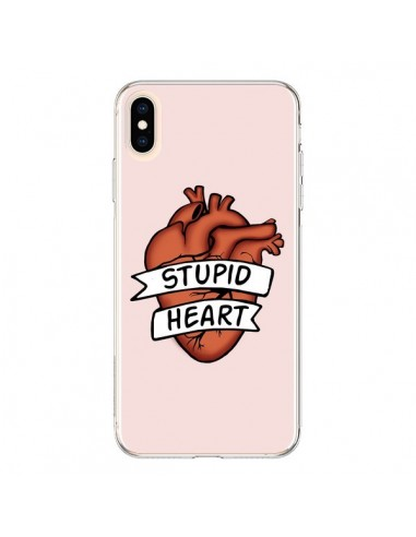 Coque iPhone XS Max Stupid Heart Coeur - Maryline Cazenave