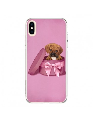 Coque iPhone XS Max Chien Dog Boite Noeud Triste - Maryline Cazenave