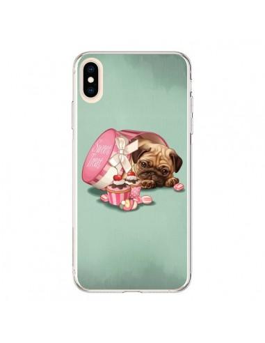 Coque iPhone XS Max Chien Dog Cupcakes Gateau Bonbon Boite - Maryline Cazenave