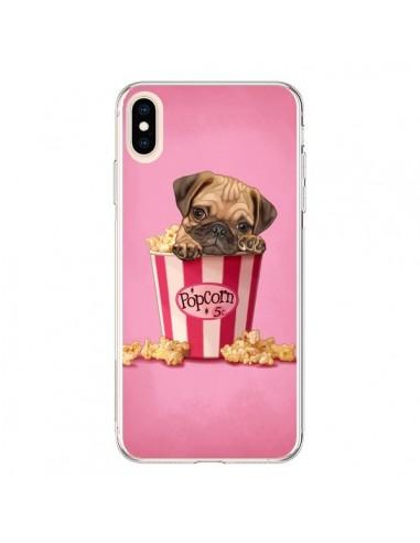 Coque iPhone XS Max Chien Dog Popcorn Film - Maryline Cazenave