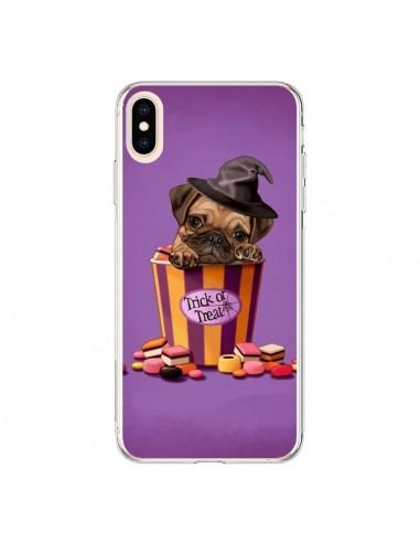 Coque iPhone XS Max Chien Dog Halloween Sorciere Bonbon - Maryline Cazenave