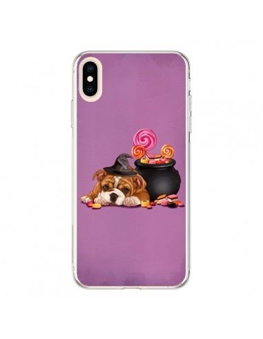 Coque iPhone XS Max Chien Dog Halloween Sorciere Chaudron Bonbon - Maryline Cazenave