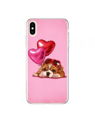 Coque iPhone XS Max Chien Dog Lunettes Coeur Ballon - Maryline Cazenave
