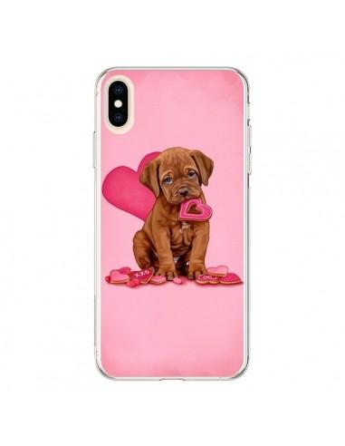 Coque iPhone XS Max Chien Dog Gateau Coeur Love - Maryline Cazenave